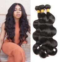 3 Bundles/150g 100% Peruvian Human Virgin Hair Wavy Body Wave Weave Weft