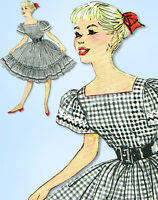 1960s Vintage Simplicity Sewing Pattern 3295 Uncut Teen Square Dancing Dress 34B