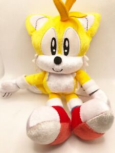 """8"""" Tomy Miles """"Tails"""" Prower Sonic The Hedgehog 25th Anniversary Shiny Plush Toy"""
