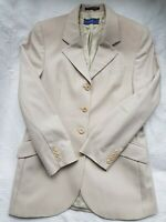 AUSTIN REED Women's Light Brown Pure New Wool Skirt Suit. Size UK 10.