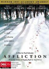 Affliction (Nick Nolte/James Coburn) - DVD (Region 4) - NEW & SEALED - Freepost