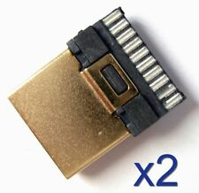 2x Connecteur HDMI Male plaqué Or 19 broches /Connector Male 19 pins gold plated