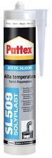 PATTEX SL509 Sigillante siliconico alta temperatura 300 ml Nero fino a 300°