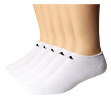 $45 Adidas Men'S 5 Pairs Pack White Cushioned No Show Athletic Socks Shoe 6-12