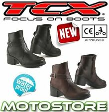 100% Leather Motorcycle Boots CE Approved TCX