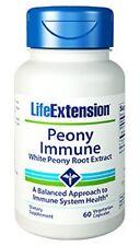 Peony Immune - White Peony Root Extract - 60 Veggie Capsules - Life Extension