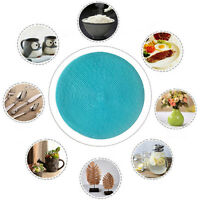 8pcs 38cm Christmas Round Woven Table Pads Placemats PP Waterproof Table Mats