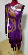 Tanzkleid Latein kleid Turnierkleid Tanzkleid lila Sexy Dance Dress