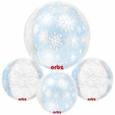 Snowflake Winter Wonderland Helium Party Orbz Balloon Frozen Party Events