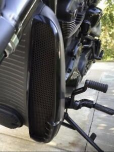 Harley Vrod NRS Radiator Grills (BLACK)