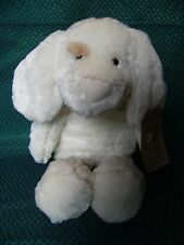 "TESCO FLOPPY FRIENDS CUDDLE PIPED PUPPY DOG SOFT HUG TOY WITH TAGS 16"" APPROX"