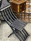Antique Curving Wood Chair Inlaid Mother of Pearl