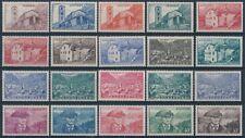 ANDORRA FR. 1944/46 Serie completa 20v Y&T 100/118** € 46.50 Perfetta MNH