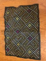 genuine African (Congo) Kuba Raffia cloth fabric, natural woven handmade
