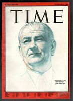 1966 Time President Lyndon Baines Johnson Only Cover Original to Frame