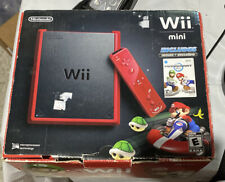 Nintendo Wii Mini 8GB Red Console w Mario Kart