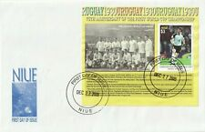 NIUE 27 DECEMBER 2005 75th WORLD CUP ANNIVERSARY MINIATURE SHEET FIRST DAY COVER