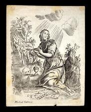 santino incisione 1600/1700 S.MARIA MADDALENA m.cabbaye