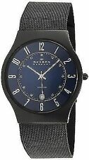 Skagen Mens Quartz Blue Dial Titanium Mesh Watch T233XLTMN