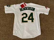 New!! Rickey Henderson #24 Oakland Athletics White Jersey 2XL (52)