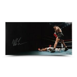 """Mike Tyson Signed Autographed 18X36 Photo """"Knockout"""" Upper Deck #/50 UDA"""