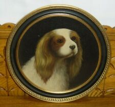 Chelsea House Oil Painting On Panel King Charles Spaniel Dog Dunhelm The Admiral