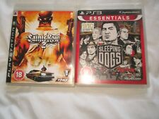 2 PS3 GAMES SAINTS ROW 2 WITH BOOK AND SLEEPING DOGS ,IN GOOD CONDITION.