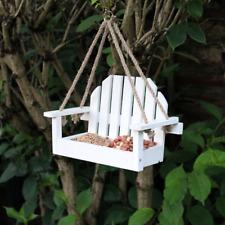 Novelty Wooden Garden Bench Hanging Bird Feeder Table Feeding Station Swing Seat