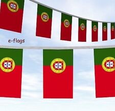 More details for 10 metre portuguese flags party bunting bandeira de portugal speedy delivery