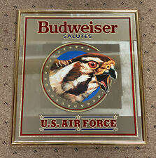 Budweiser Salutes the US Air Force Mirror Sign 23x21 Pub Bar Restaurant Military