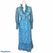 New listing Vintage Blue Floral Maxi Dress