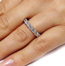 4.35 CT Natural cushion cut diamond eternity band VS2/G 14K solid white gold