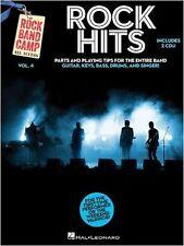 Rock BAND CAMP volume 4 Rock HITS suonare la CHITARRA BATTERIA MUSICA TASTIERA LIBRO & CD