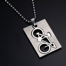 Stainless Steel Unisex Bicycle Pattern Pendant Necklace Fashion Jewelry Gift