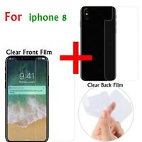2pcs/Pack Clear LCD Screen Protector Guard Front + Back Film For Apple iPhone X