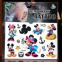 HOT Cartoon Kids Temporary Tattoos Stickers Sheet Party Favour Lolly Bags Tattoo