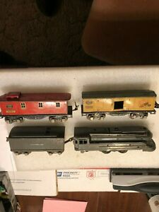 ORIG 80+ YEAR OLD PREWAR LIONEL 4 PIECE #1688 FREIGHT SET,  1936-46, FOR REPAIR!