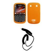 for BlackBerry Bold 9930 Case Gel Orange+Car Charger