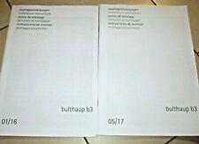2 x technischen Broschüren , Anleitung, Montage von Bulthaup b3 montageanleitung