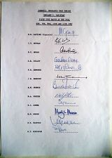 ENGLAND v PAKISTAN 1987, 5th TEST AT THE OVAL – CRICKET OFFICIAL AUTOGRAPH SHEET