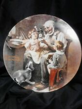 "Norman Rockwell Plate ""The Toy Maker"" W/Authenticity~ Knowles Limited Edition"