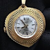 Seiko Hearth Coeur Vintage Montre Watch Remontage Manuel Fonctionne Pendentif