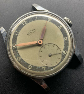 1940s Recta Radial Dial Time Only Wristwatch