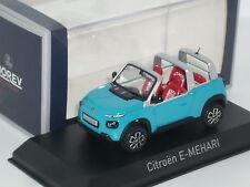 1:43 New Norev Citroen E-Mehari SUV Concept Car Prototype Blue DS CX 2CV AX C3