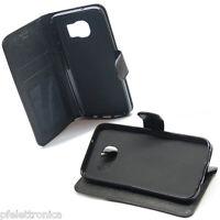 custodia in eco PELLE nera con stand cover per SAMSUNG Galaxy S7 SM-G930