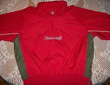 Tampa Bay Buccaneers NFL 1/2 Zip Pullover Windbreaker Jacket Men's Medium w/hood