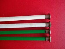 "Plastic knitting needles, 2 sets, sizes 11 and 13, 14"" long"