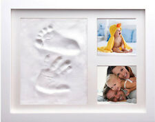 Baby IMPRONTA CORNICE FOTO argilla per impronte Digitali Kit RICORDO Doccia Regalo Battesimo