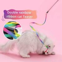 Colorful Ribbon Cat Stick Cat Wand Catcher Teaser Interactive Toys Training.