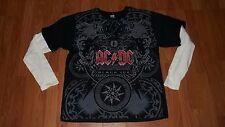 2XL Mens AC/DC Longsleeve Black Ice Shirt Rock n Roll